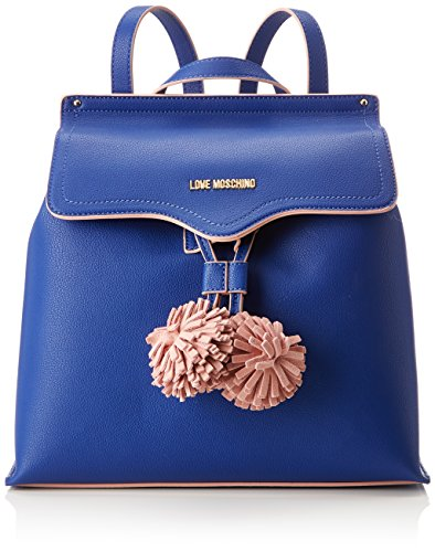 Handbag Love Small 15x30x32 Moschino Grain Pu Backpack Borsa Blue Blu Womens H B T x cm xvAw8v