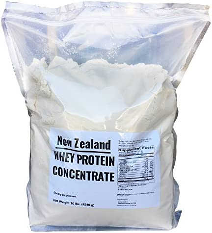 New Zealand Whey Protein – 10 lbs – 100 Grass Fed, Non-Gmo, No Soy, Imported Directly From New Zealand, 150 Servings