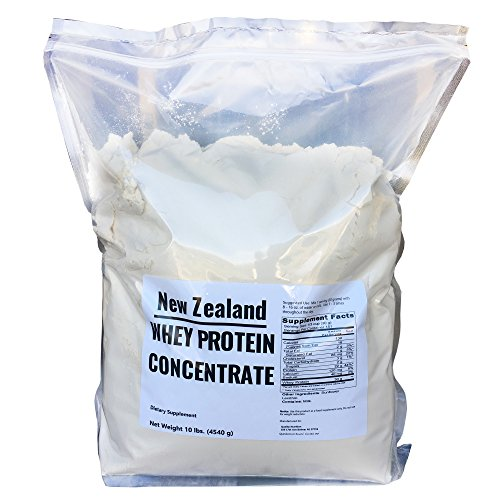New Zealand Whey Protein - 10 lbs - 100% Grass Fed, Non-Gmo, No Soy, Imported Directly From New Zealand, 150 Servings -