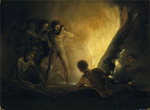 ['Goya Y Lucientes Francisco De (Anonymous Follower) La Hoguera Primera Mitad Del 19 Century ' Oil Painting, 30 X 41 Inch / 76 X 104 Cm ,printed On High Quality Polyster Canvas ,this Imitations Art DecorativeCanvas Prints Is Perfectly Suitalbe For Bar Decoration And Home Gallery Art And] (French Fries Costume Toddler)