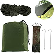 Scorpiuse Camping Tent Tarp Lightweight Hammock Rain Fly Tent Tarp with Drawstring Carrying Bag,Ground Cloth F
