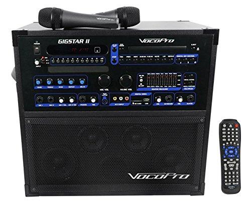 VocoPro Gigstar II Portable 100W 4-Channel PA/Karaoke System