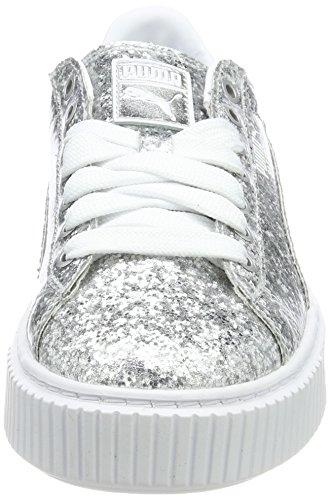 para Plata Platformglitter Mujer Basket Puma Zapatillas qpttg