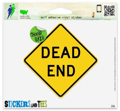 Dead End Road Sign Vinyl Car Bumper Window Sticker 4