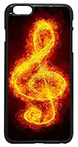 G-Clef Music Symbol On Fire iPhone 6 Plus Case PC Black (5.5 inch) At Colored Cases Store