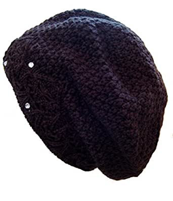Frost Hats Winter Hat for Women BROWN Beret Hat Rhinestone