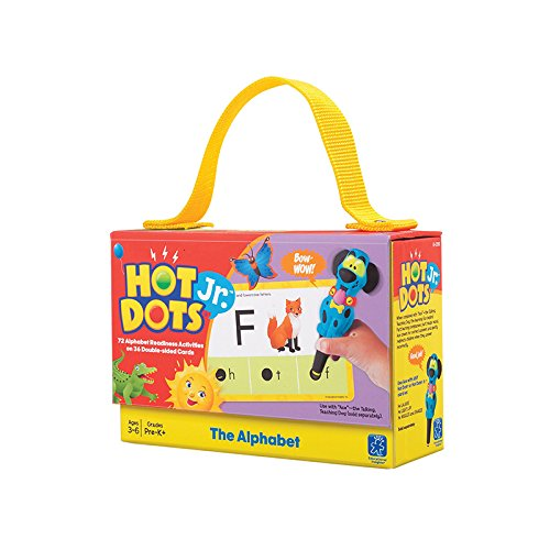 EDUCATIONAL INSIGHTS HOT DOTS JR CARDS THE ALPHABET (Set of (Learning Resources Hot Dots)