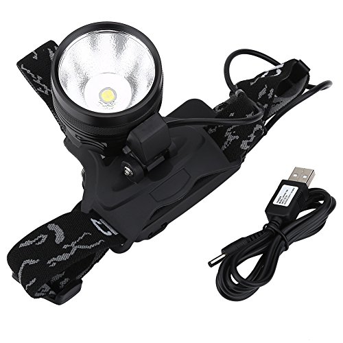 VGEBY LED Headlamp, Multi-Functional 3000 Lumen Flashlight Headlights with Rechargeable 18650 Batteries USB Charger for Cycling, Running, Fishing