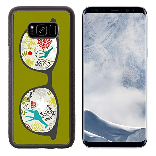 Luxlady Samsung Galaxy S8 Plus S8+ Aluminum Backplate Bumper Snap Case IMAGE ID: 26796464 Retro sunglasses with reflection for hipster Vector illustration of accessory eyeglasses isolated - Vector Sunglasses