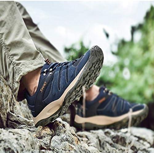 登山靴 メンズ トレッキングシューズ アウトドアシューズ スニーカー ハイキングシューズ ウォーキングシューズ 軽量 通気性抜群 滑りにくい 歩きやすい おしゃれ 旅行 キャンプ 四季 ブルー カーキ グレー