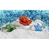 GiftCraft Set of 3 Miniature/Fairy Garden Sea Creatures - Starfish, Turtle, Crab