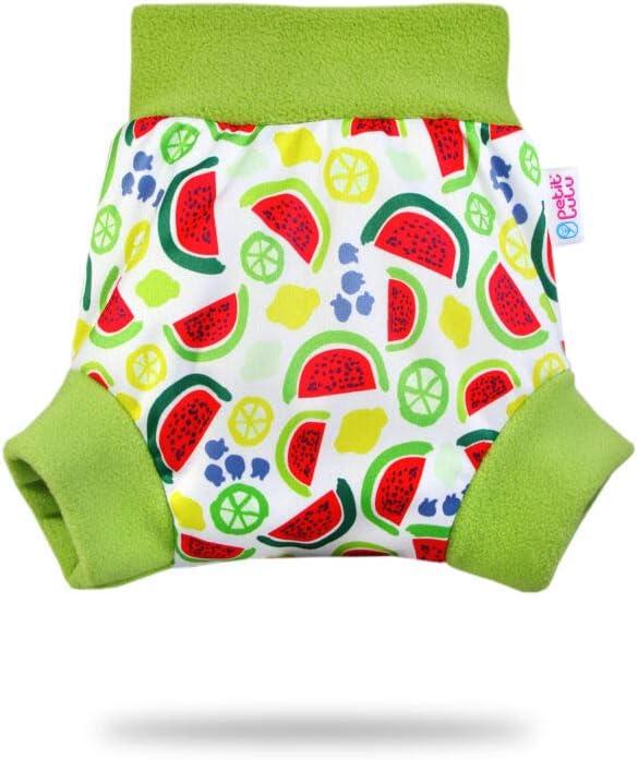 Wassermelonen Schlupf/überhose 13kg + f/ür H/öschenwindeln und Nachtwindeln Gr/ö/ße XL Petit Lulu /Überhose