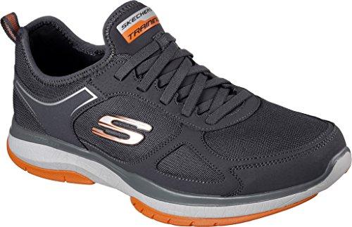 Skechers Mens Di Sport Mens Scoppiare Tr Sneaker Grigio / Arancia