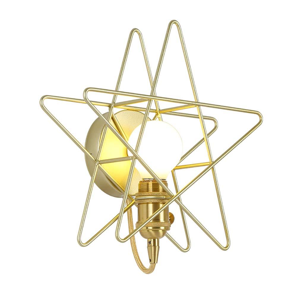 Wandleuchte im nordischen Stil Schlafzimmer Nachttischlampe Moderne Einfachheit Pentagram Wandleuchte Kreative Beleuchtung Wandlampe