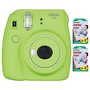 Fujifilm Instax Mini 9 Instant Camera with Fujifilm INSTAX MINI 40 Sheets of Instant Film