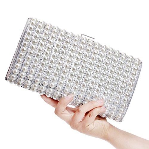 Silver FUBULE da da donna Borsa tracolla a sera con pochette wwzTCAq