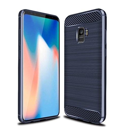 wholesale dealer 074a6 7876c Galaxy S9 Plus Case, Galaxy S9+ Case, Cruzerlite Carbon Fiber Shock  Absorption Slim Case for Samsung Galaxy S9 Plus (Blue)