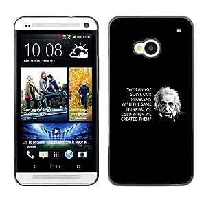 Caucho caso de Shell duro de la cubierta de accesorios de protección BY RAYDREAMMM - HTC One M7 - Inspiring Quote Science