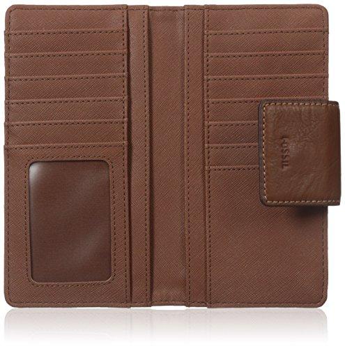 Fossil Emma Tab Wallet Rfid, Brown Leather