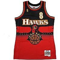 fan products of Mitchell & Ness Steve Smith 1996-97 Atlanta Hawks Swingman Road Red Jersey Men's