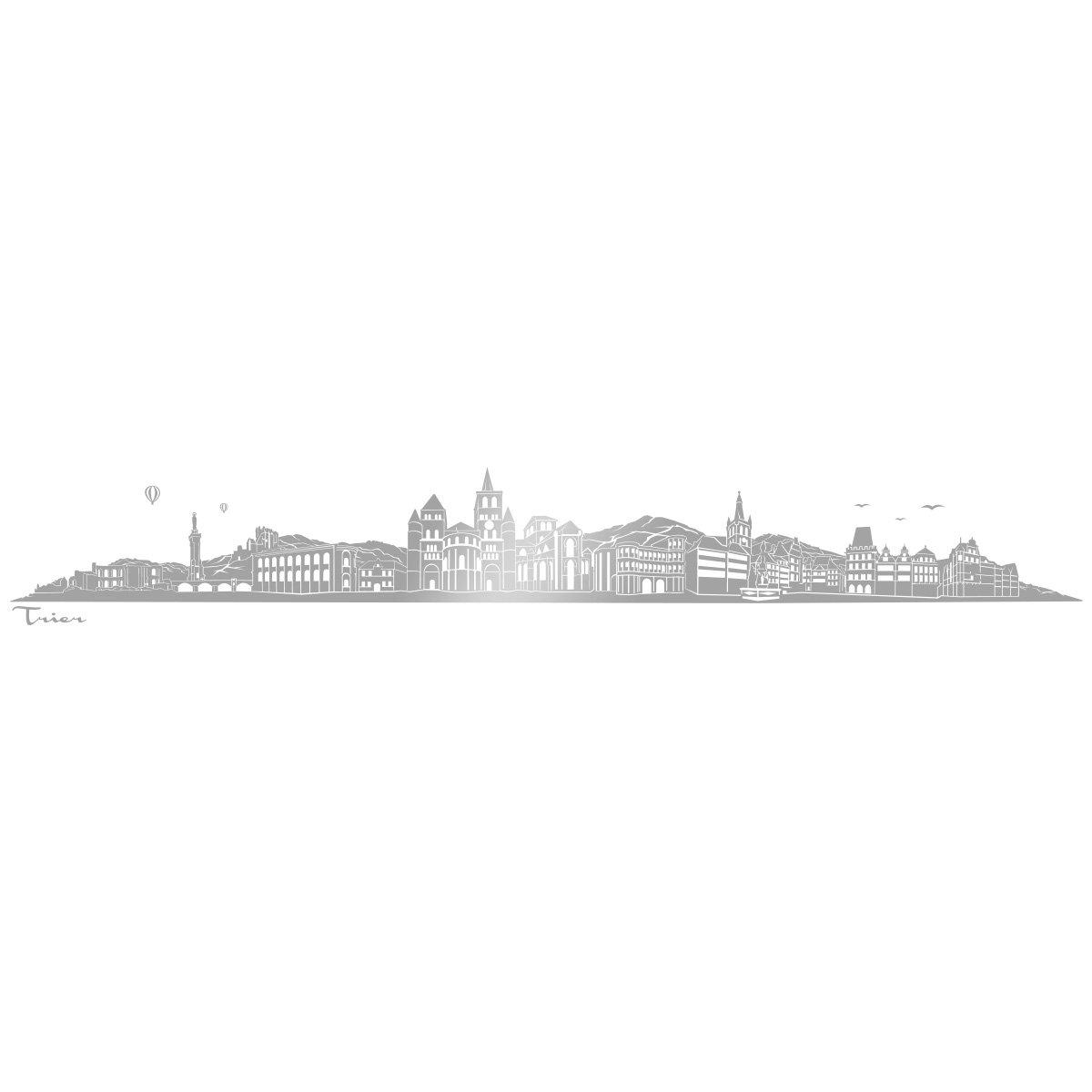 WANDKINGS WANDKINGS WANDKINGS Wandtattoo - Skyline Trier (ohne Fluss) - 240 x 36 cm - Schwarz - Wähle aus 6 Größen & 35 Farben B078SFVZQJ Wandtattoos & Wandbilder 4052f7
