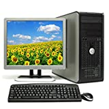 "Dell Dual Core Complete Package 17"" LCD Bundle Optiplex 755 Tower Desktop Core 2 D 2.30GHz, 4GB RAM, 160GB HDD, DVD, Windows 7 Professional 64-Bit Computer"