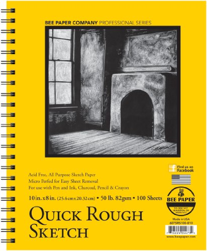 Bee Paper Quick Rough Sketch Pad, 8-Inch by 10-Inch (6075RS100-810) by Bee Paper Company
