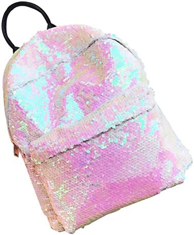 Tinksky Fashion Bling Sequins Paillette Backpack Casual Outdoor Sport Hiking Daypacks Christmas Birthday Gift for Girls Women