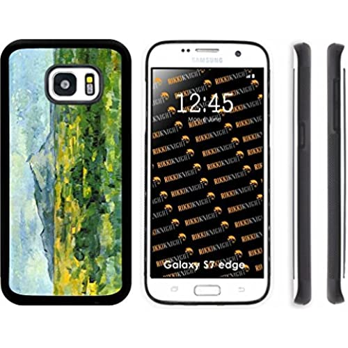 Rikki Knight Paul Cezzane Art Mouset St Victoire Design Samsung Galaxy S7 Edge Case Cover (Black Rubber with front Bumper Protection) for Samsung Galaxy Sales