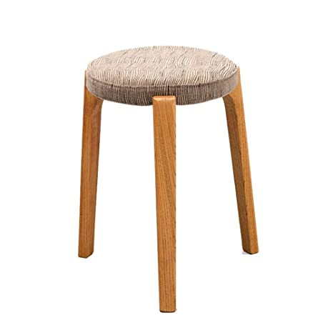 Pleasing Amazon Com Zhangqiang Round Stool Sturdy Stool Chair Ocoug Best Dining Table And Chair Ideas Images Ocougorg