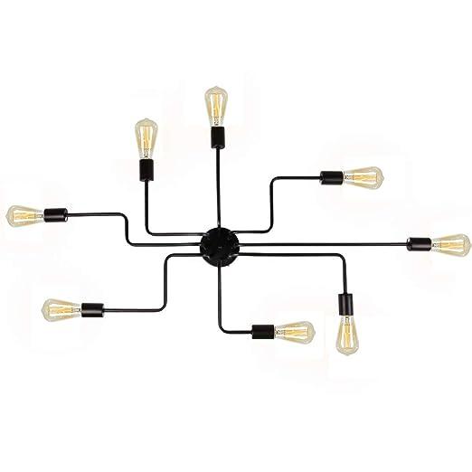 Amazon.com: Lámpara de techo para comedor, de acero, color ...