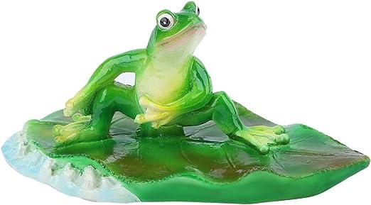 Rana flotante artificial, decoración de estanque, estanque, decoración para el hogar, fiesta, piscina, animal, bañera, jardín, decoración, fuente decorativa, superficie de césped (rana pequeña): Amazon.es: Hogar