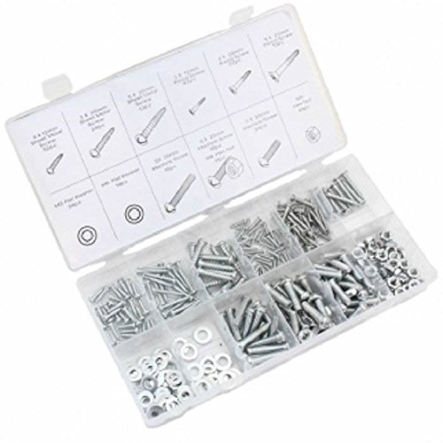 347 Pc Piece Metric Size Nut And Bolt Screw Assortment Hardware -