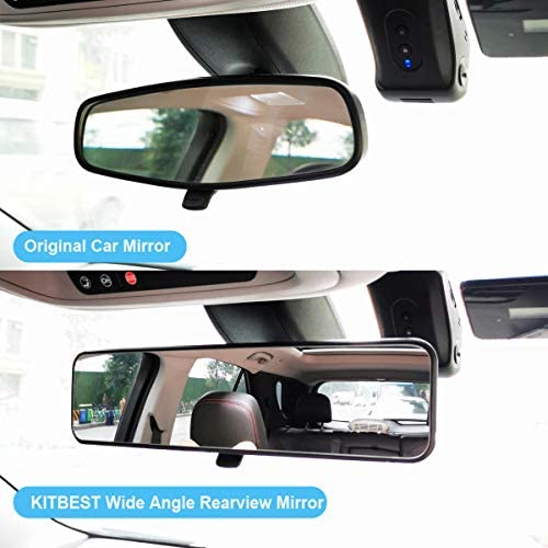 Dependable Direct Universal 12 Inch Interior Clip On Panoramic Rearview Mirror Truck For use in Car Clear Tint SUV Wide Angle