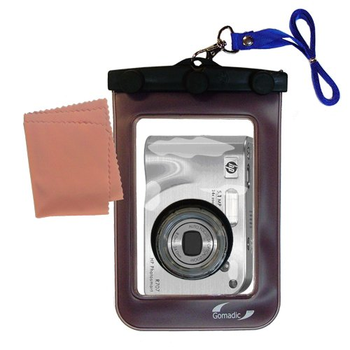 Lightweight Underwater Camera Bag suitable for the HP PhotoSmart R707v R707xi Waterproof Protection by Gomadic