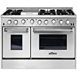 Thor Kitchen 48 HRG4808U 6 Burner Under Cabinet Range Hood Gas Range