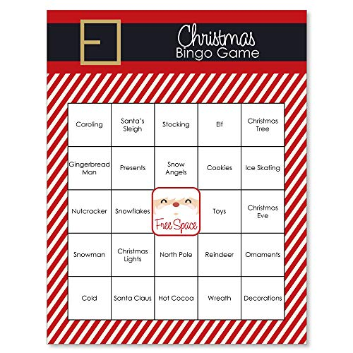 (Big Dot of Happiness Jolly Santa Claus - Holiday & Christmas Party Game Bingo Cards - 16)