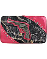 MOSSY CAMO PISTOL LOOK FLAT THICK WALLET - HOTPINK