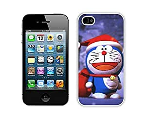 Custom-ized Christmas doraemon White iPhone 5s Case 1