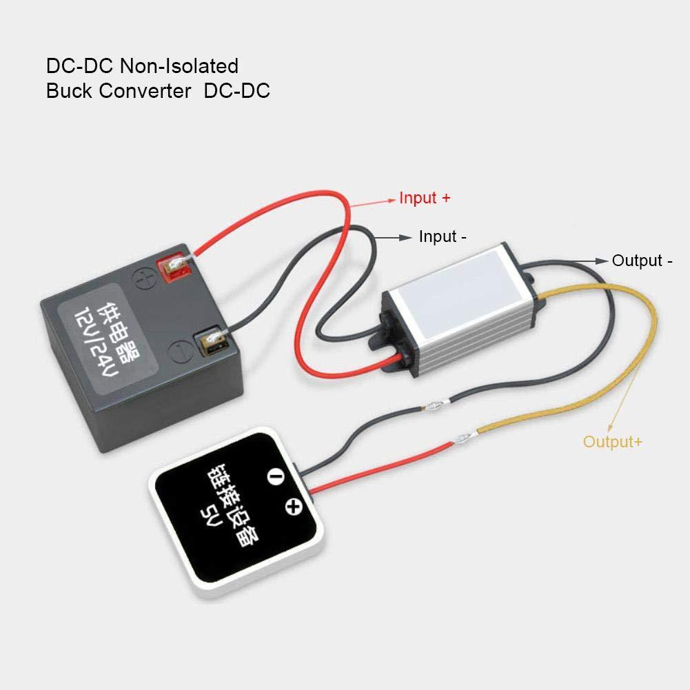 DC-DC Buck Converter 12V 24V a 5V 3A M/ódulo De Fuente De Alimentaci/ón Reductor Regulador De Voltaje Ajustable Rendimiento Estable
