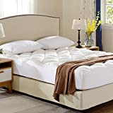 Serta Mattress Topper Cheer Collection Ultra Plush Eco-friendly Hypoallergenic Bamboo Fitted Mattress Topper - Full