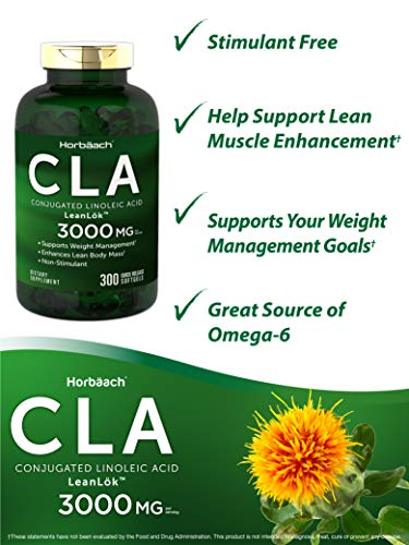 CLA 3000 mg | Maxiumum Potency | 300 Softgel Pills | Weight Loss Supplement for Women and Men | Conjugated Lineolic Acid…