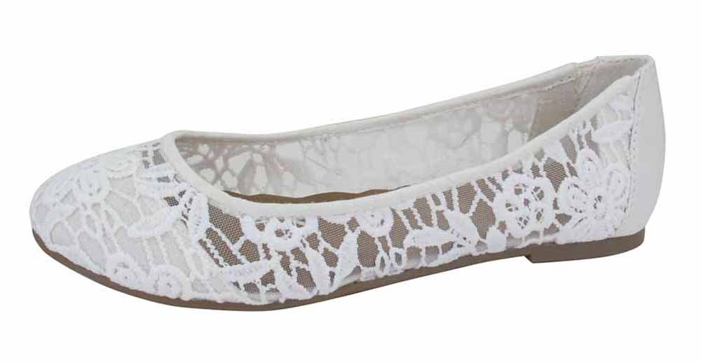 Jellypop Fresh 6.5 Womens Slip On Ballet Flats B07B3LJ3KG 6.5 Fresh B(M) US White Crochet 545bf8