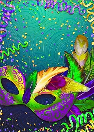 5X7ft Masquerade Mask Theme Photography Backdrop Mardi Gras Mask Masquerade Colorful Dark Retro Pattern Poster Backgrounds for Birthday Party Banner Decoration Studio Props