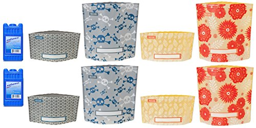 [Pirate Flower Reusable Lunch Snack Sandwich Zip Lock Bag Ice Pack for Lunch Box for Men Women Teens Boys] (Lady Law Costume)