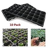 10Pcs 32 Cell Seedling Starter Trays Seed Germination Garden Plant Propagation Planting Grow Box Nursery Pots PVC