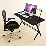 Modern Design Computer Desk Durable Workstation for Office, Home Office, Dorm Room, Black
