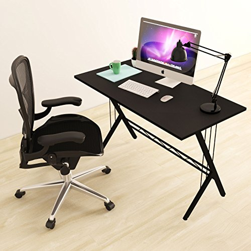 Modern Design Computer Desk Durable Workstation for Office, Home Office, Dorm Room, Black Dorm Room Computer Desk