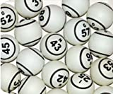 United Novelty White Ping Pong 1.5 Inch Size Professional Double Numbered Bingo Ball Set B1-O75