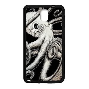 super shining day Cool Back Skin Octopus Art for TPU Material Samsung Galaxy Note 3 N9000